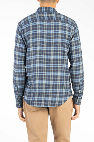 Brushed Alpine Flannel  - Blue Heather Plaid