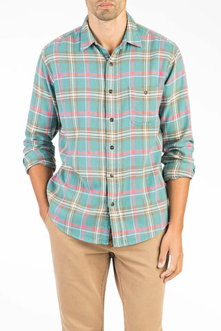 Brushed Alpine Flannel- Teal Plaid