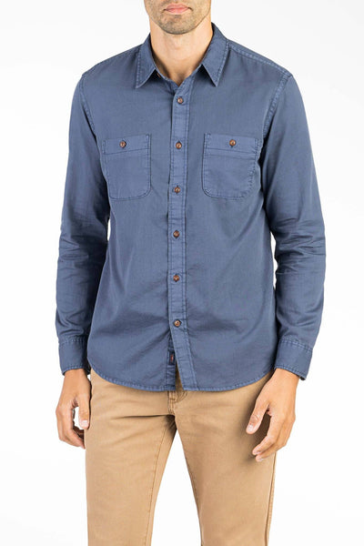 Washed Chino Shirt - Navy