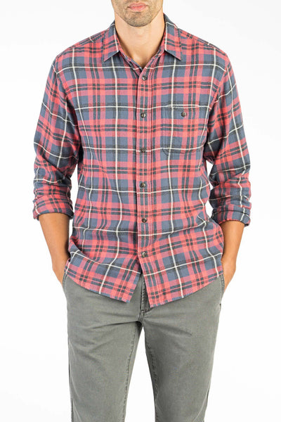 Brushed Alpine Flannel - Red & Charcoal Plaid