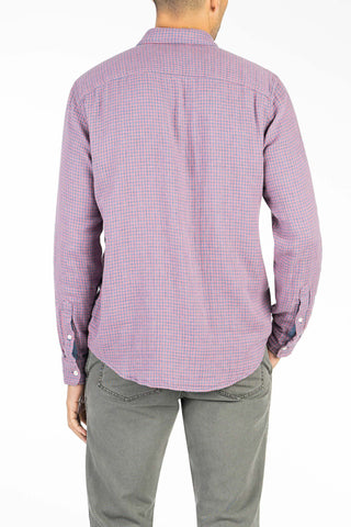 Doublecloth Shirt  - Red Gingham & Blue