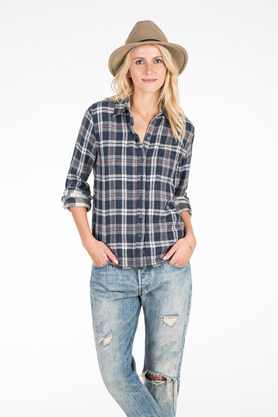 Reversible Belmar Shirt - Grey Plaid/Buffalo Check