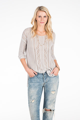 Sand Dollar Sweater - Cloud Grey