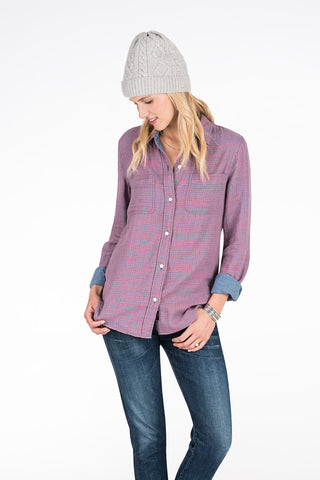 Doublecloth Malibu Shirt - Blue & Red Gingham