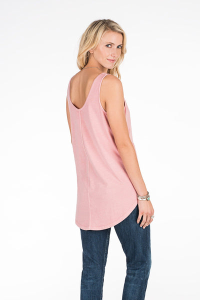 Tegan Garment Dyed Tank - Blush Pink