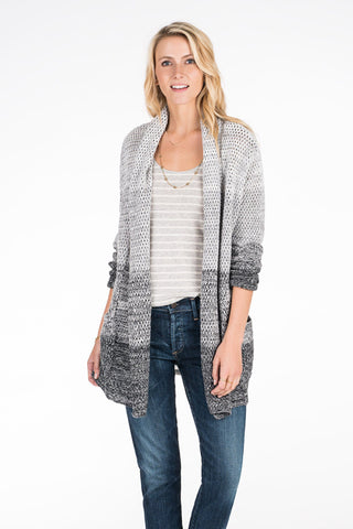 Riley Open Cardigan - Ombre Gray