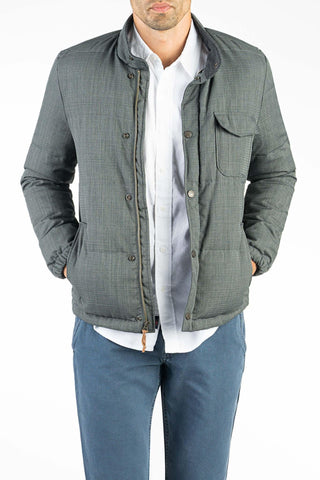 Water Resistant Mt. Vista Down Jacket - Grey
