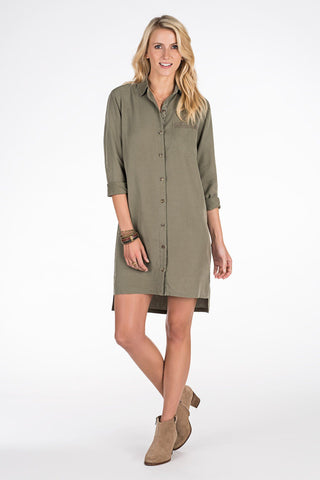 Sunset Safari Dress - Cypress
