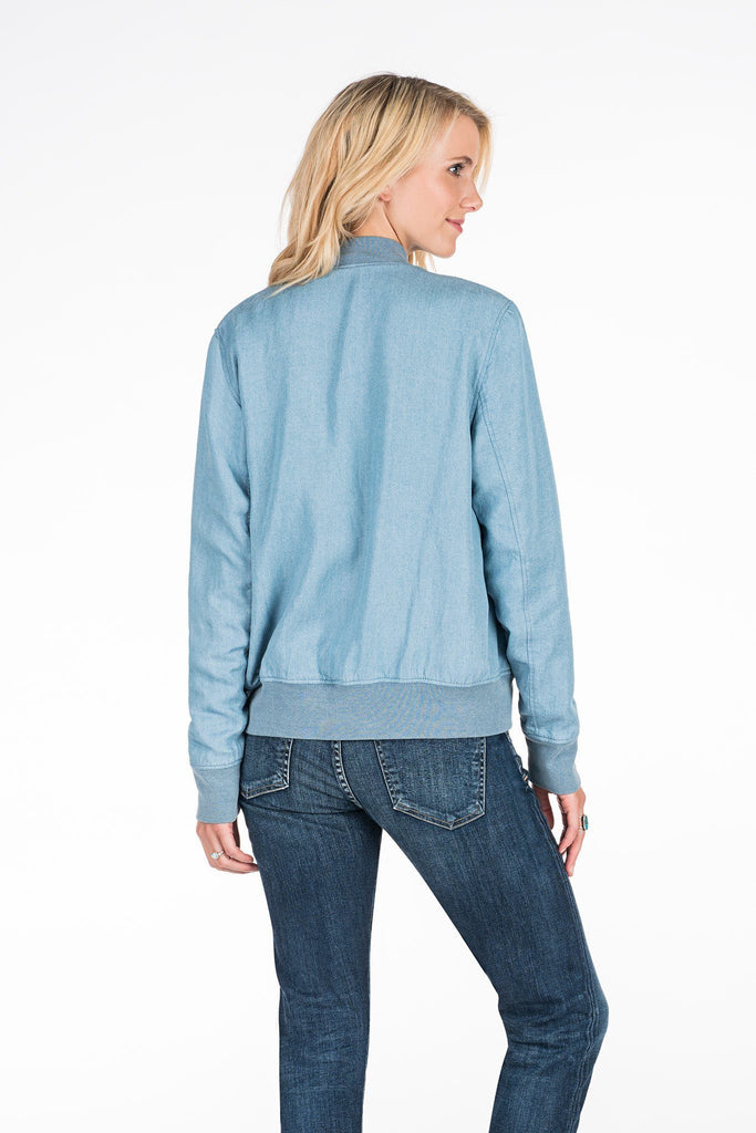 Alana Reversible Bomber - Indigo Light Wash/Beacon Stripe