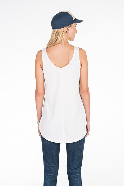 Tegan Garment Dyed Tank - White