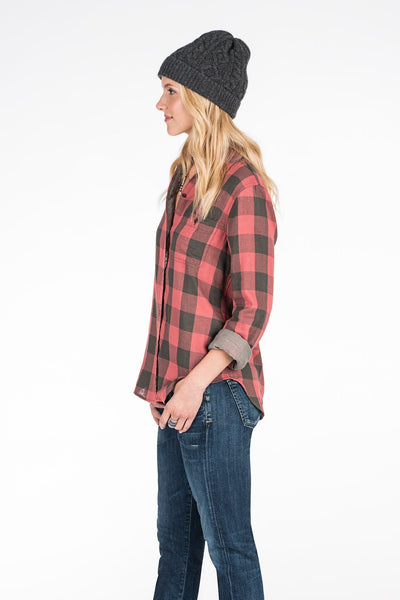 Doublecloth Newport Shirt - Red & Grey Buffalo Check