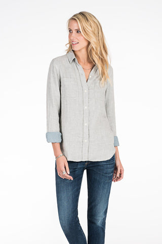 Doublecloth Malibu Shirt - Light Grey