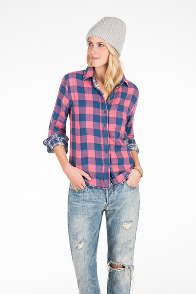 Reversible Belmar Shirt - Navy Plaid/Buffalo Check