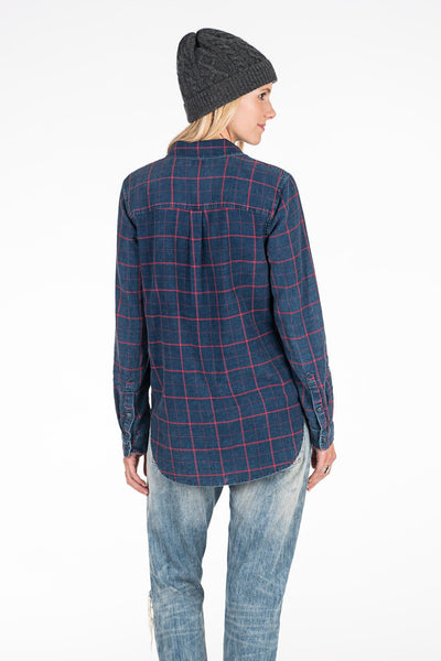 Malibu Shirt - Navy Windowpane