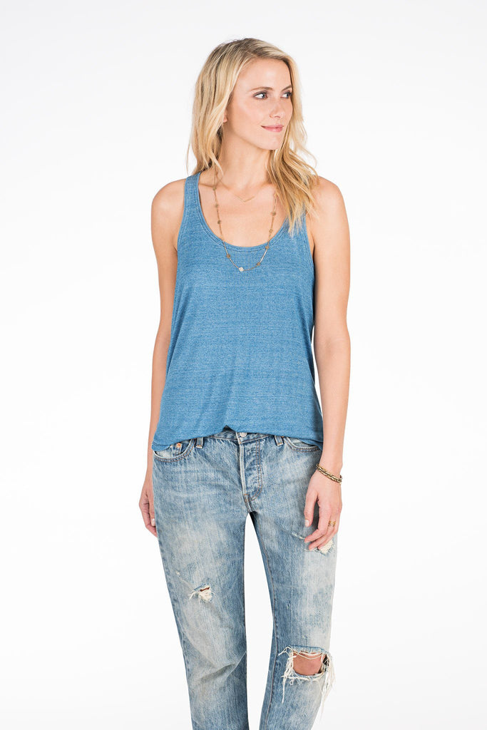 Shoreline Tank - Medium Wash Indigo