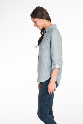Doublecloth Newport Shirt - Chambray/Light Blue Buffalo Check