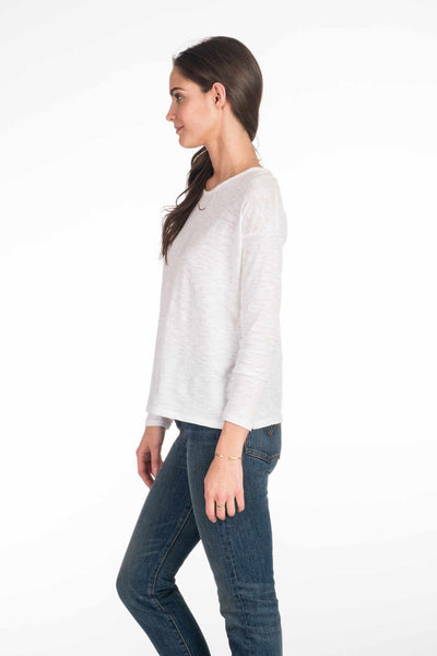 Venice Long-Sleeve Top - White