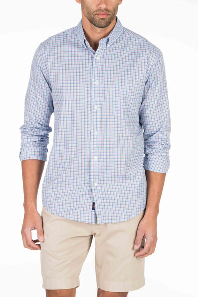 Laguna Sport Shirt - Light Blue Check