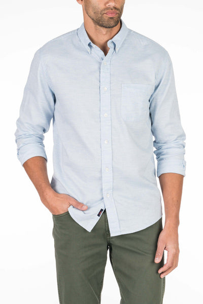 Button-Down Ventura Shirt - Washed Blue Oxford
