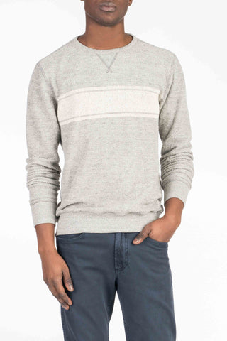 Backloop Crewneck - Grey Surf Stripe