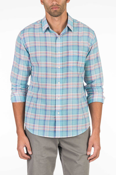 Summer Blend Shirt - Turquoise Plaid