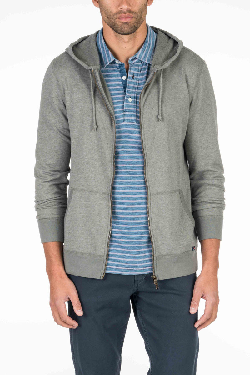 French Terry Zip Hood - Charcoal