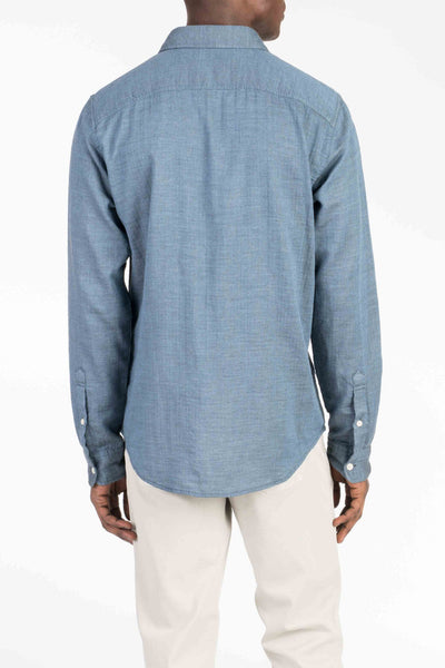 Doublecloth Shirt - Blue/Grey