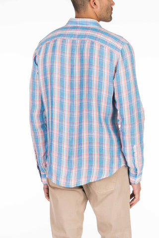 Linen Ventura Shirt - Faded Blue Plaid