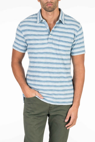 Indigo Polo - Indigo Horizon Stripe