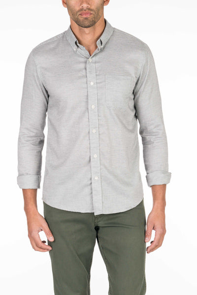 Button-Down Ventura Shirt - Washed Grey Oxford