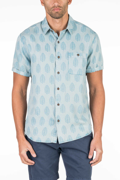 Short-Sleeve Coast Shirt - Banana Leaf Print