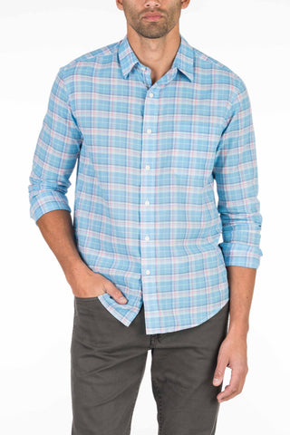 Summer Blend Shirt - Blue Plaid