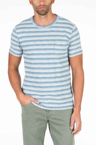 Pocket Tee - Indigo Horizon Stripe