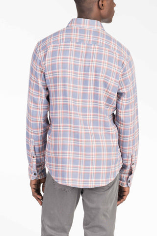 Doublecloth Shirt - Dusty Blue Plaid/Grey Chambray