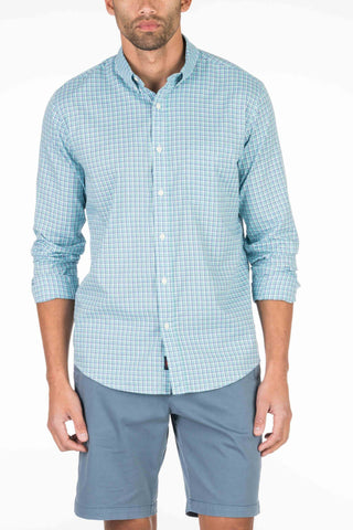 Laguna Sport Shirt - Teal Check