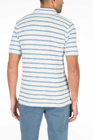 Indigo Polo  - Shoreline Stripe