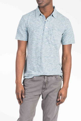 Spring Heather Polo  - Sky Blue