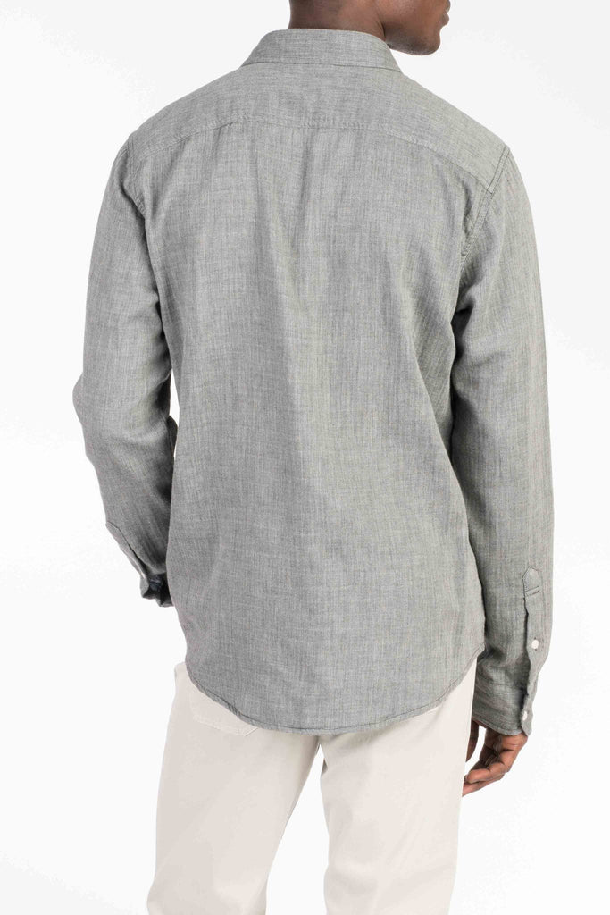 Doublecloth Shirt - Charcoal/Blue