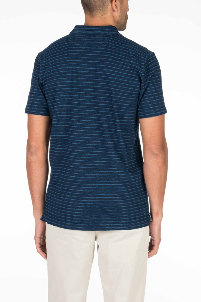 Indigo Polo - Dark Indigo Stripe