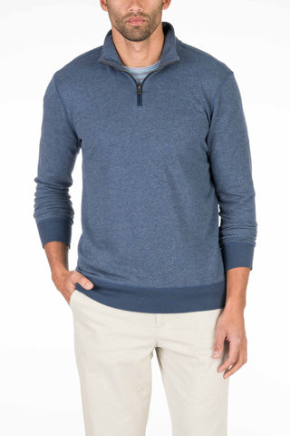 French Terry Pullover - Navy