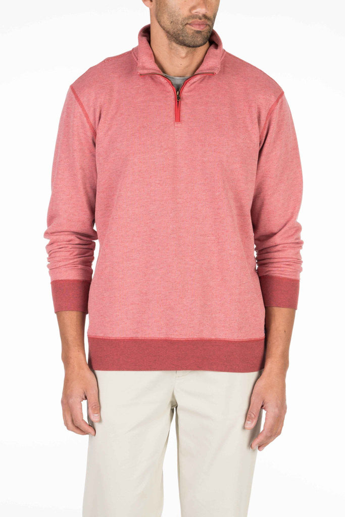 French Terry Pullover - Faded Red