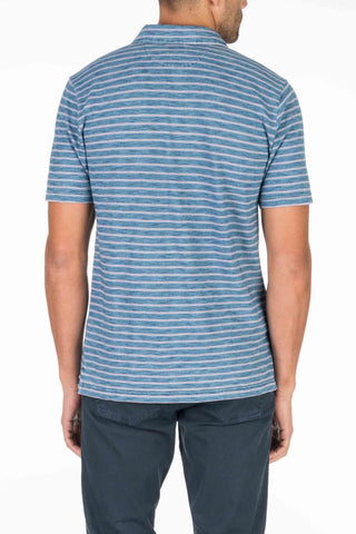 Indigo Polo  - Indigo Sunrise Stripe