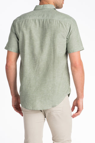 Short-Sleeve Breezecloth Shirt - Olive