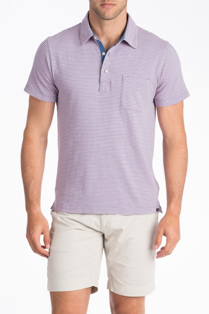 Rincon Stripe Polo - Summer Pink