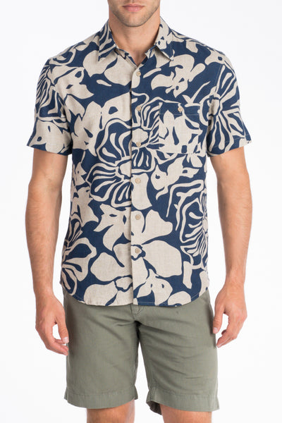 Short-Sleeve Coast Shirt - Blue Hibiscus