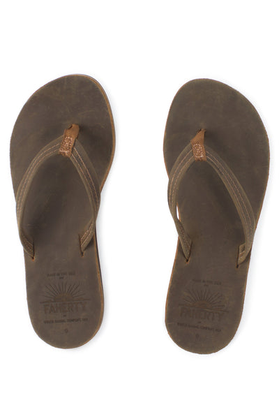 Faherty x Waltzing Matilda Josie Flip Flop - Dark Brown