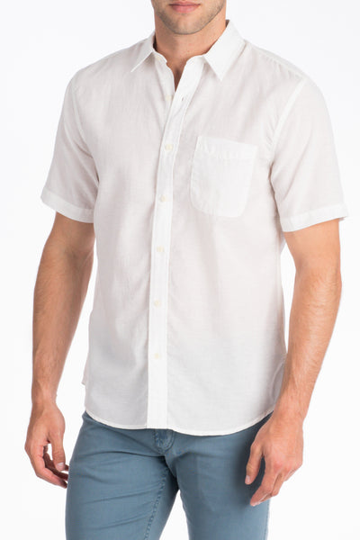 Short-Sleeve Breezecloth Shirt - White