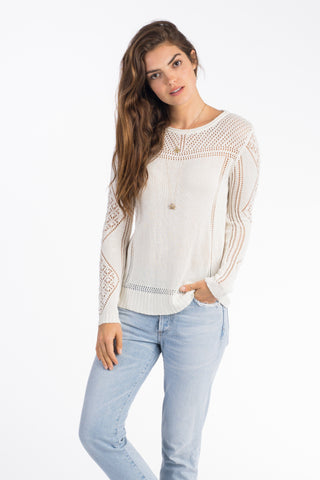 Cayman Pointelle Sweater - Ivory