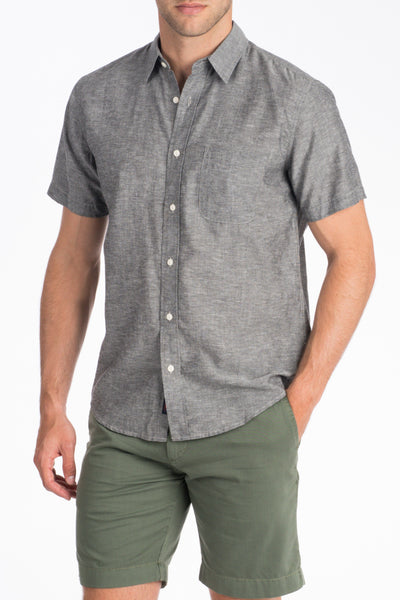 Short-Sleeve Breezecloth Shirt - Charcoal