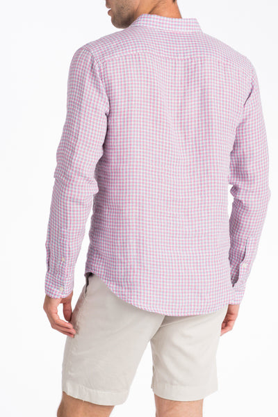 Linen Ventura Shirt - Berry Check